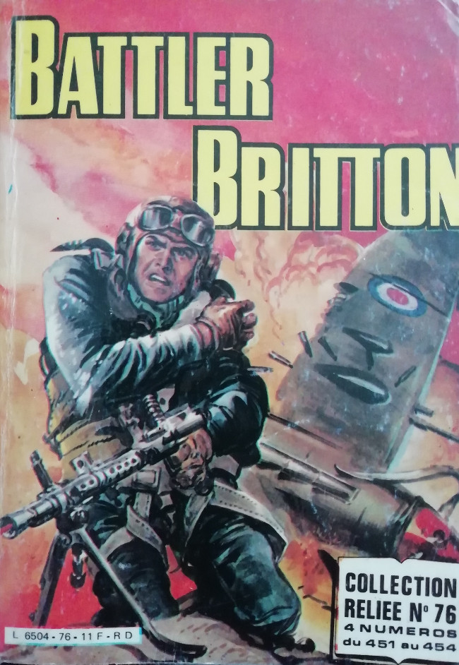 Couverture de Battler Britton -Rec76- Collection Reliée N°76 (du n°451 au n°454)