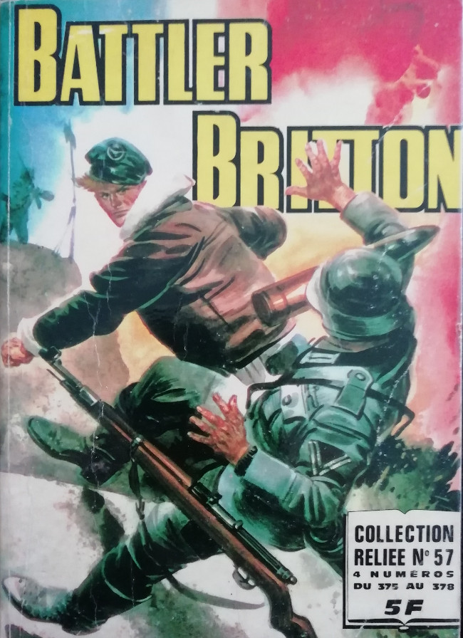 Couverture de Battler Britton -Rec57- Collection Reliée N°57 (du n°375 au n°378)