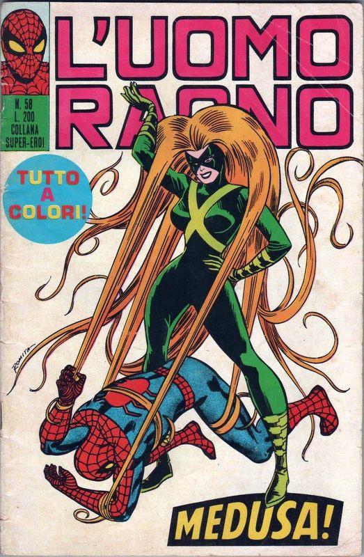 Couverture de L'uomo Ragno V1 (Editoriale Corno - 1970)  -58- Medusa