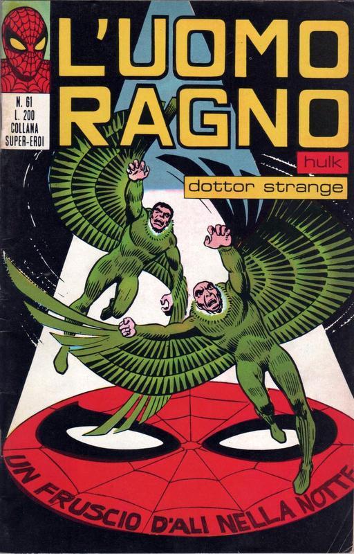 Couverture de L'uomo Ragno (Editoriale Corno) V1 -61- Un Fruscio d'Ali nella Notte