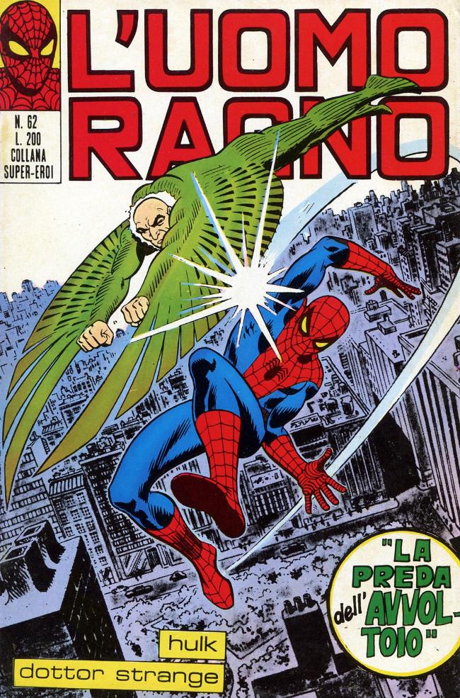 Couverture de L'uomo Ragno V1 (Editoriale Corno - 1970)  -62- La Preda dell'Avvoltoio