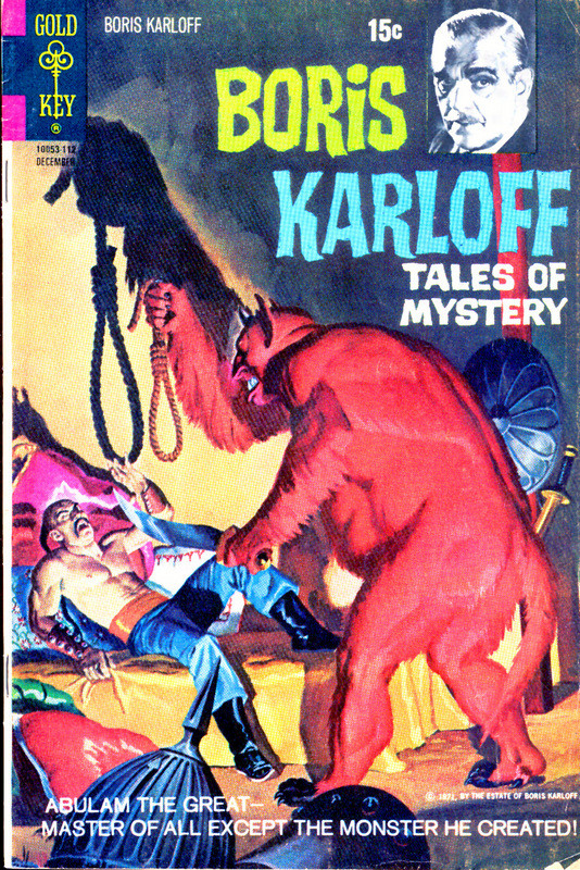Couverture de Boris Karloff Tales of Mystery (1963) -38- Abulam the Great -- Master of All Except the Monster He Created!