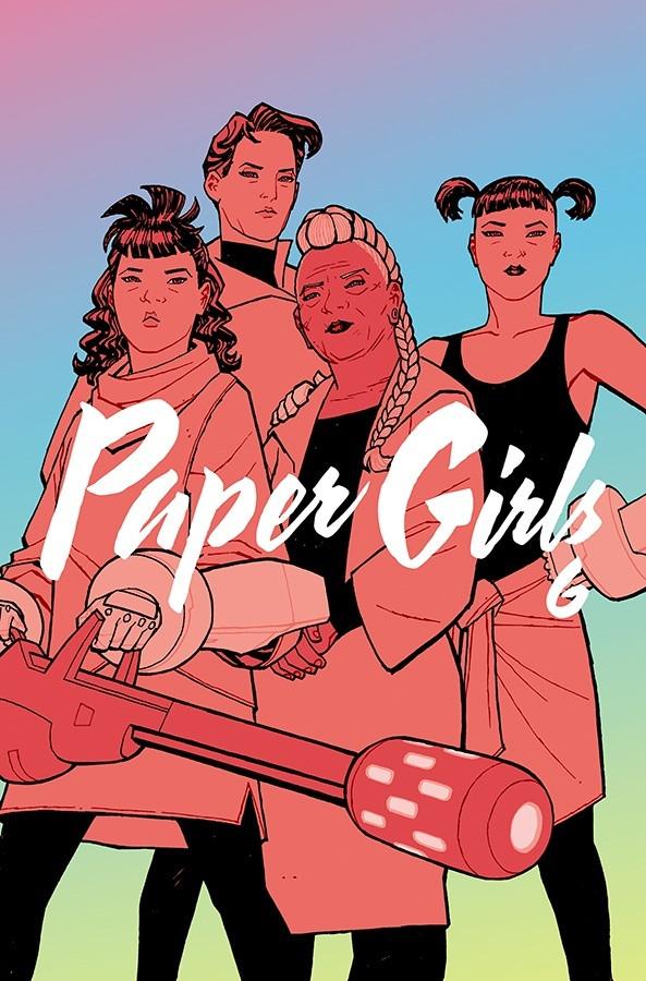 Couverture de Paper Girls (Image comics - 2015) -INT06- Paper Girls Volume 6