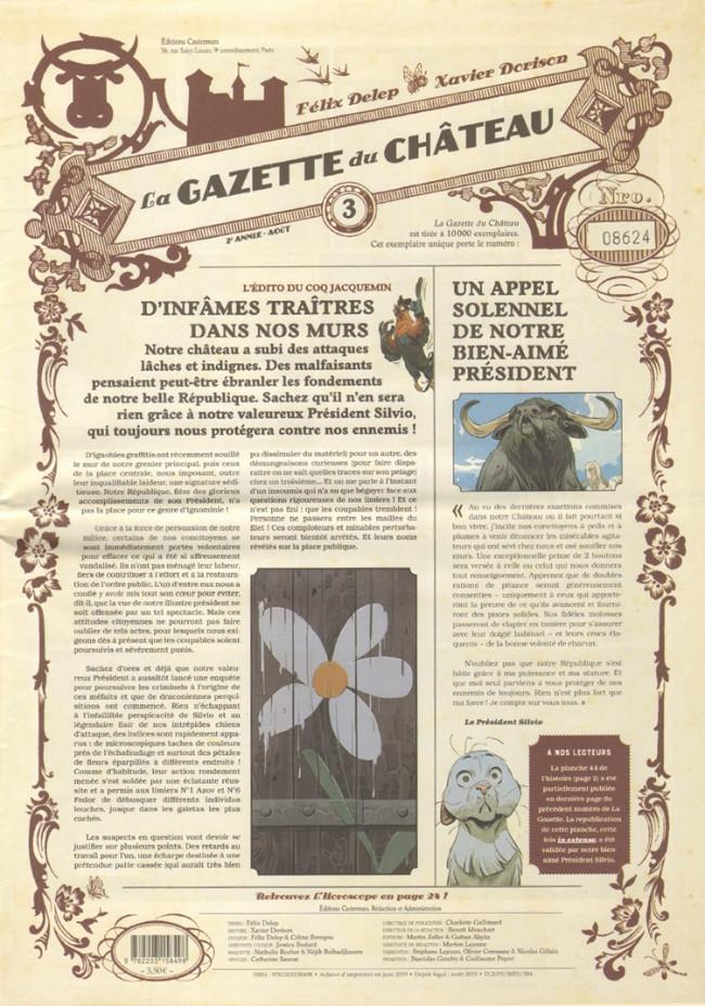 Couverture de Le château des animaux -HS- La Gazette du Château n°3