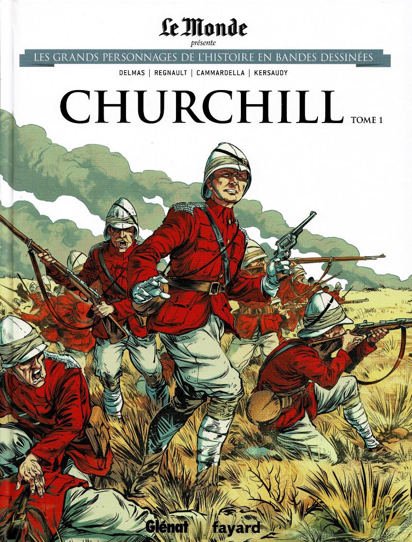 Couverture de Les grands Personnages de l'Histoire en bandes dessinées -13- Churchill - Tome 1