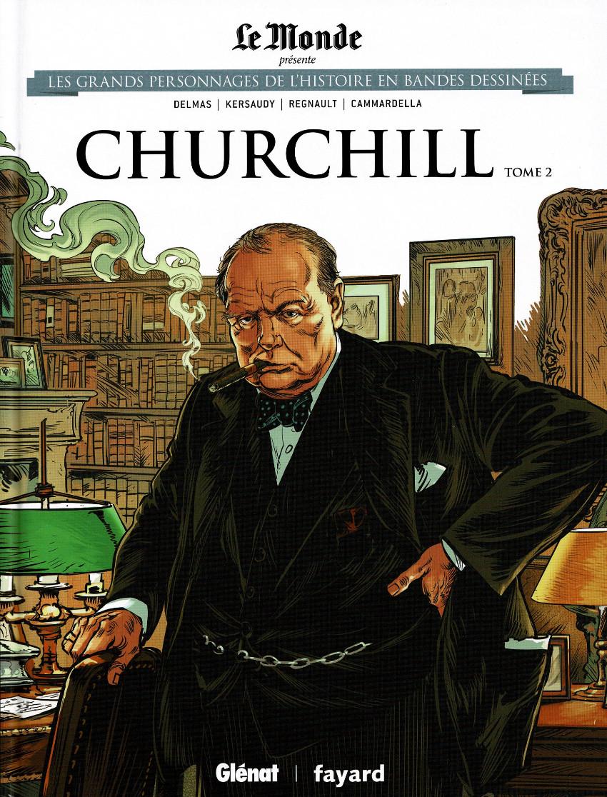 Couverture de Les grands Personnages de l'Histoire en bandes dessinées -14- ChurchillL - Tome 2