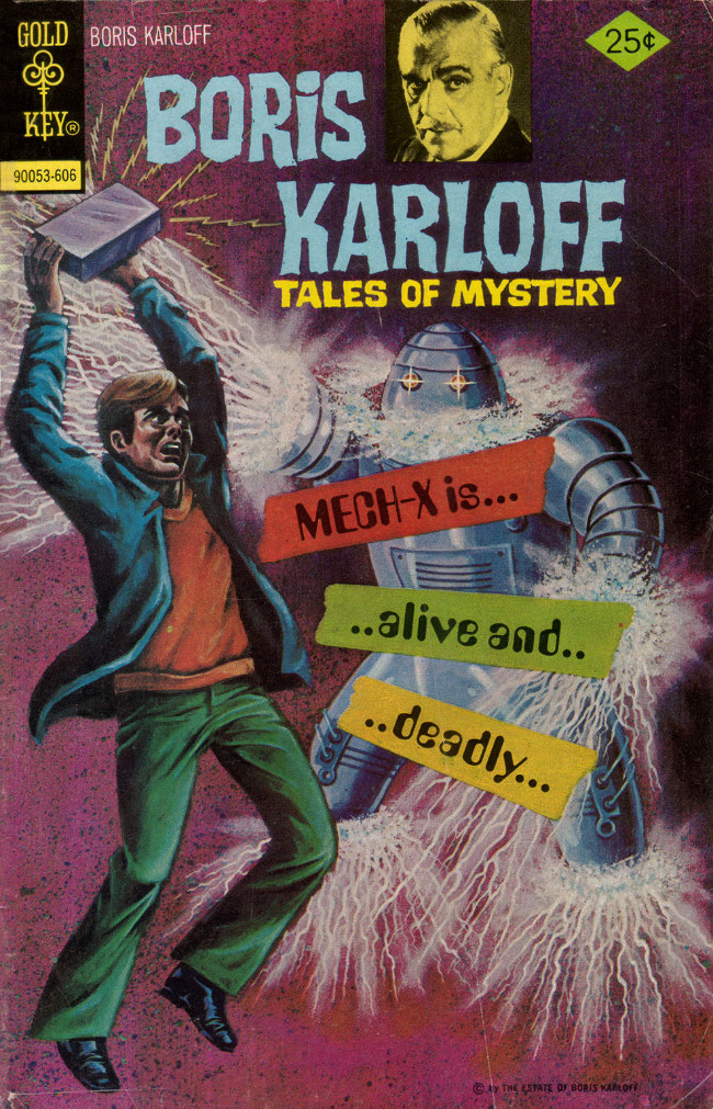 Couverture de Boris Karloff Tales of Mystery (1963) -68- Mech-X Is... ..Alive and.. ..Deadly...