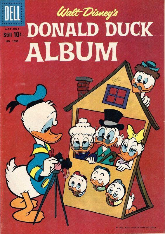Couverture de Four Color Comics (Dell - 1942) -1099- Donald Duck Album
