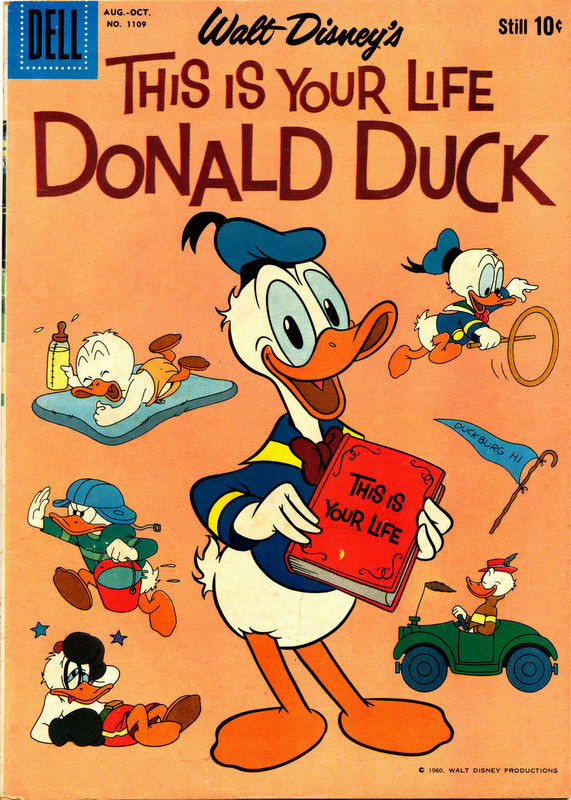 Couverture de Four Color Comics (Dell - 1942) -1109- This Is Your Life Donald Duck