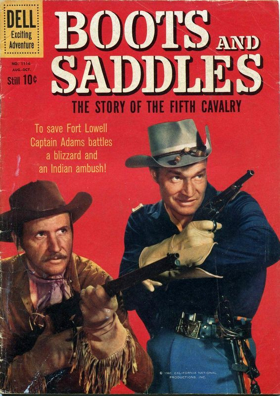 Couverture de Four Color Comics (Dell - 1942) -1116- Boots and Saddles The Story of the Fifth Cavalry