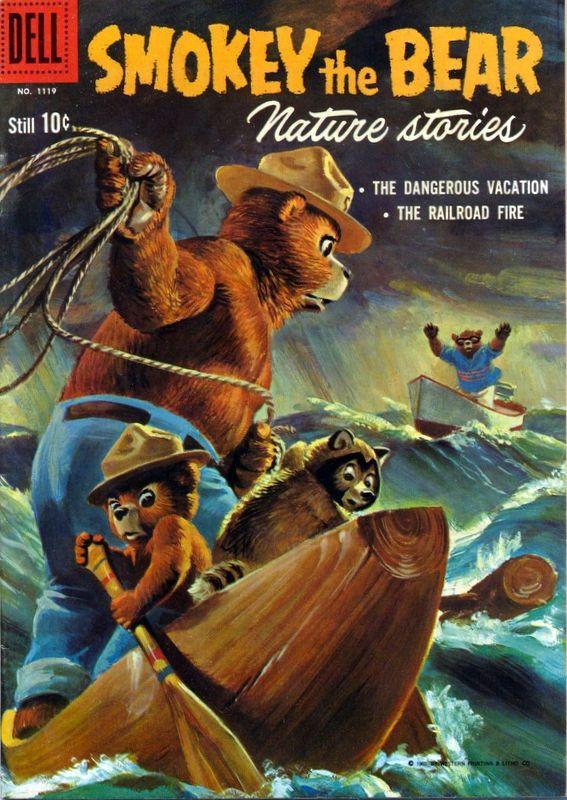 Couverture de Four Color Comics (Dell - 1942) -1119- Smokey the Bear Nature Stories