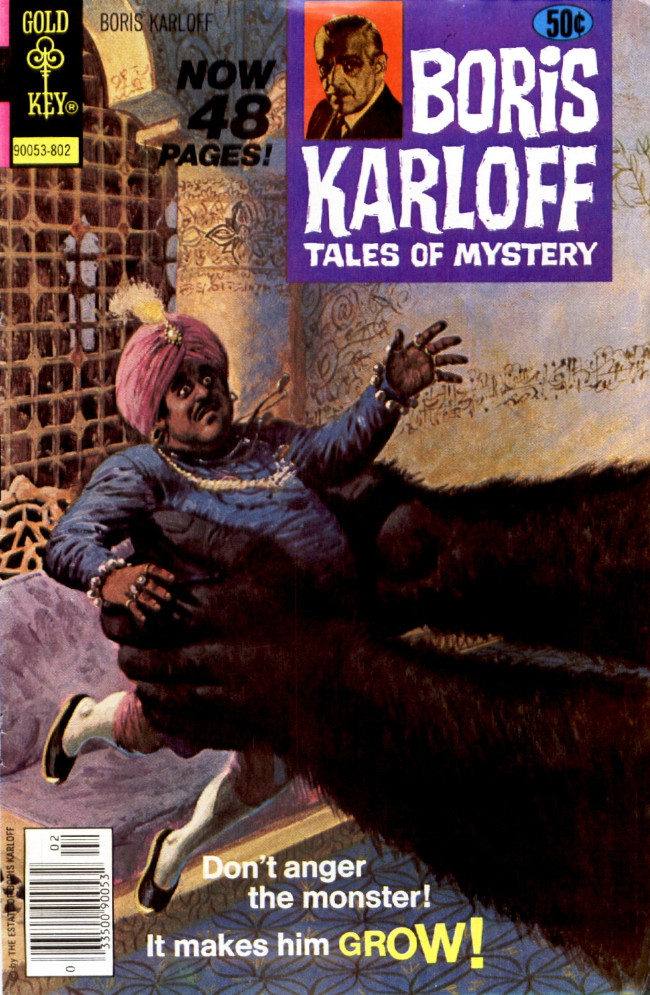 Couverture de Boris Karloff Tales of Mystery (Gold Key - 1963) -80- Don't Anger the Monster! It Makes Him Grow!
