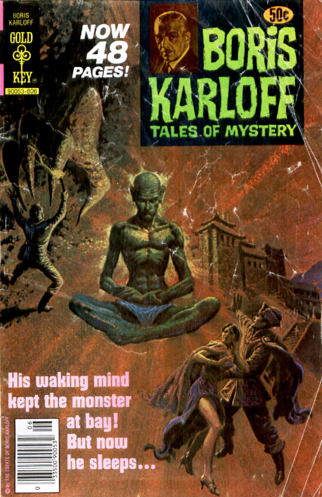 Couverture de Boris Karloff Tales of Mystery (Gold Key - 1963) -82- His Waking Mind Kept the Monster at Bay! But Now He Sleeps...