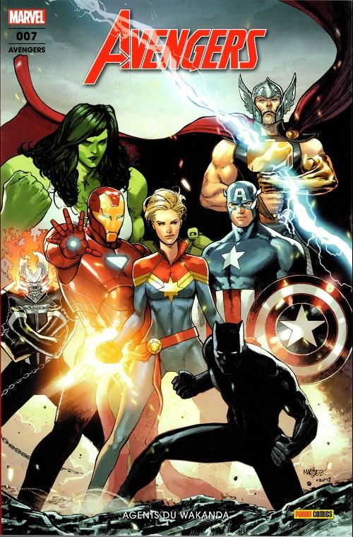 Couverture de Avengers (Marvel France - 2019) -7- Agents du Wakanda