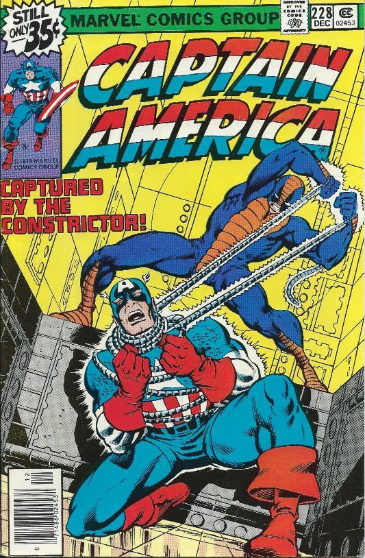 Couverture de Captain America (Marvel comics - 1968) -228- Captured by the Constrictor!