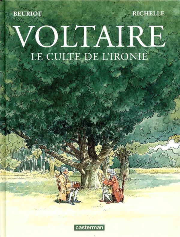 Couverture de Voltaire le culte de l'ironie