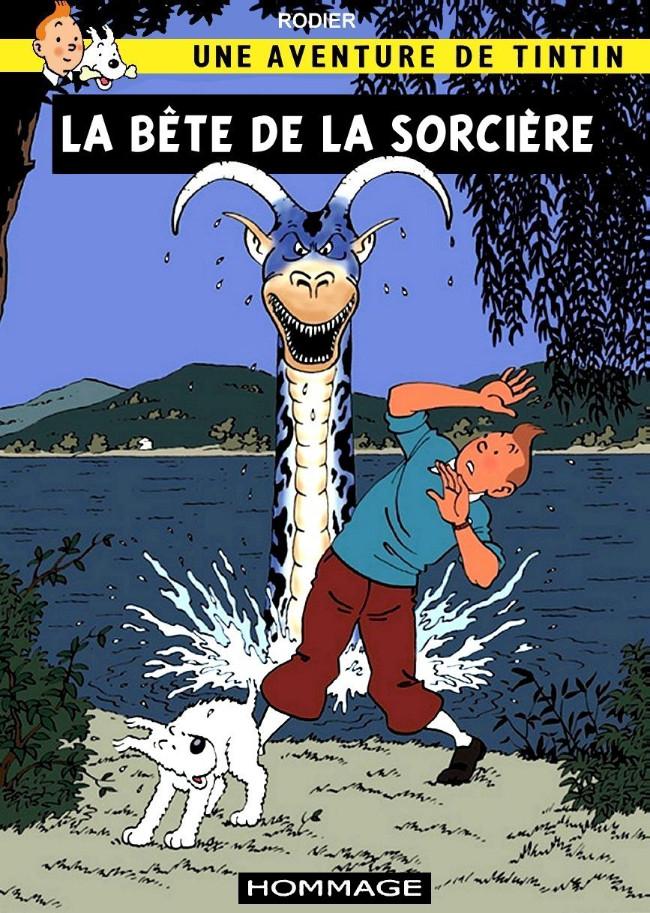 Couverture de Tintin - Pastiches, parodies & pirates - La bête de la sorcière