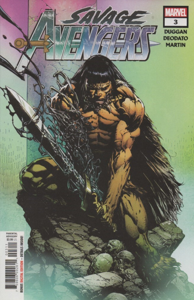 Couverture de Savage Avengers (2019) -3- Crom Whispers