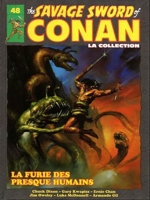 Couverture de Savage Sword of Conan (The) - La Collection (Hachette) -48- La furie des presque humains