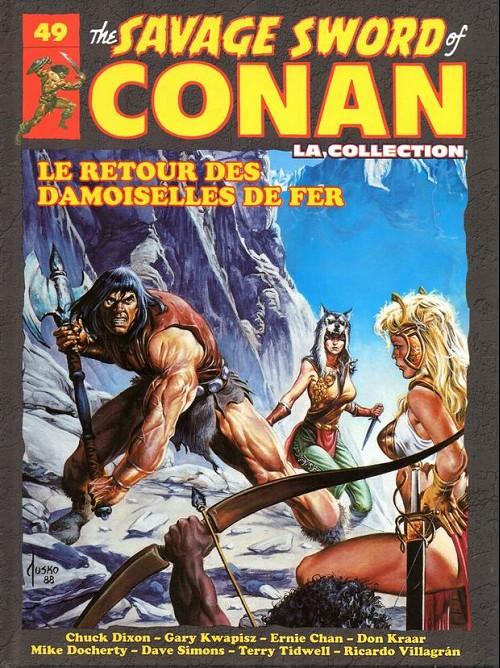 Couverture de Savage Sword of Conan (The) - La Collection (Hachette) -49- Le retour des damoiselles de fer