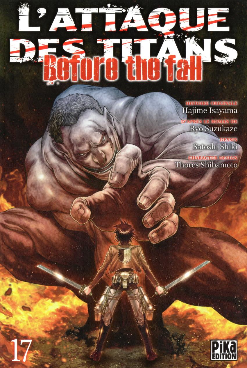 Couverture de L'attaque des Titans - Before The Fall -17- Tome 17