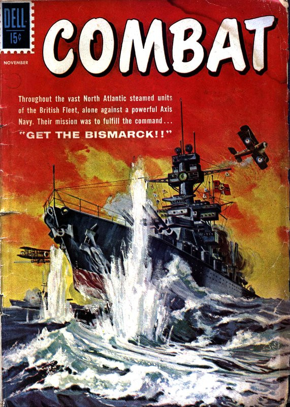 Couverture de Combat (1961) -1- Get the Bismarck