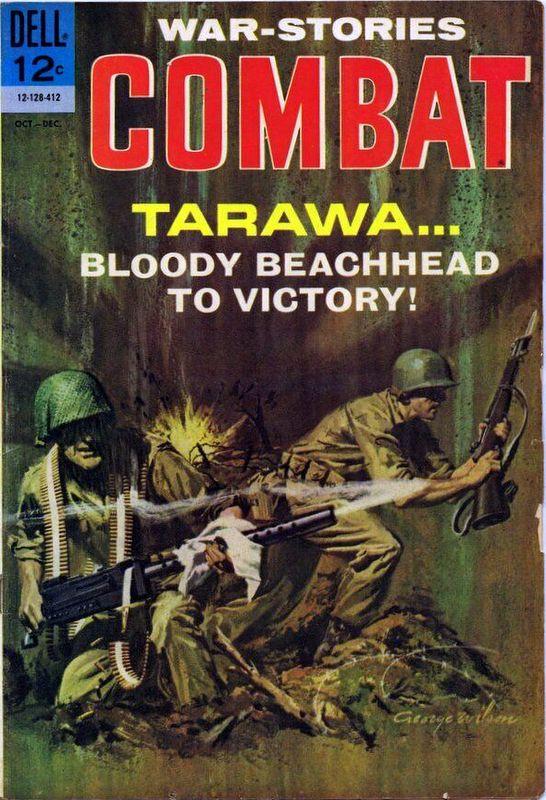 Couverture de Combat (Dell - 1961) -14- Tarawa... Bloody Beachhead to Victory!