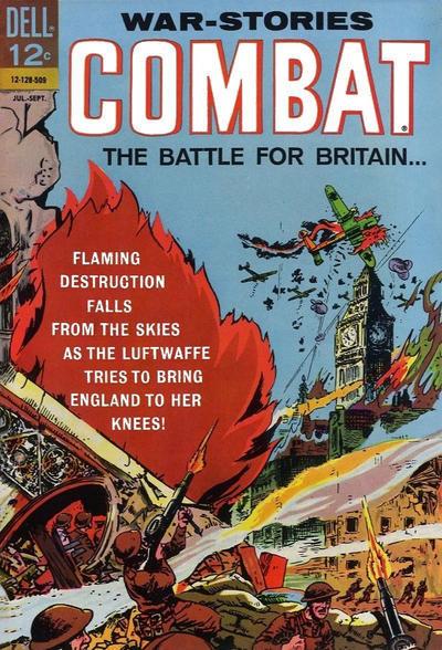 Couverture de Combat (Dell - 1961) -17- The Battle for Britain...