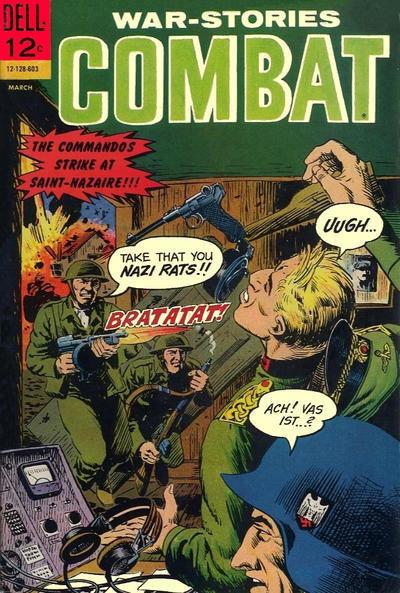 Couverture de Combat (Dell - 1961) -19- The Commandos Strike at Saint-Nazaire!!!