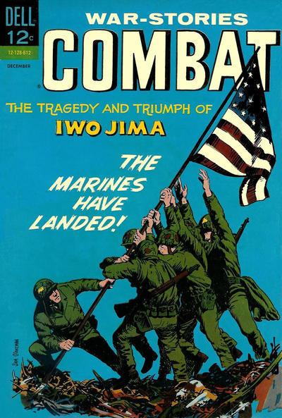 Couverture de Combat (Dell - 1961) -22- The Tragedy and Triumph of Iwo Jima