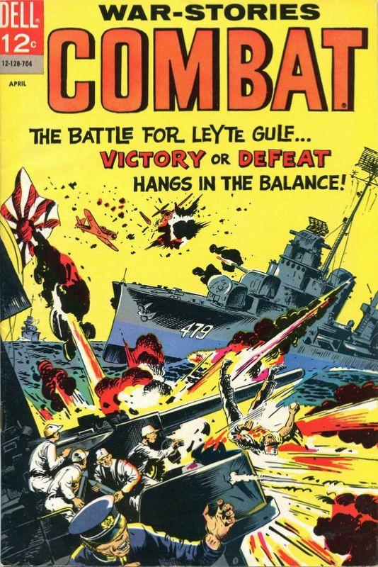 Couverture de Combat (Dell - 1961) -24- The Battle for Leyte Gulf...