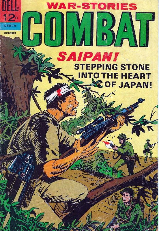 Couverture de Combat (Dell - 1961) -26- Saipan! Stepping Stone into the Heart of Japan!