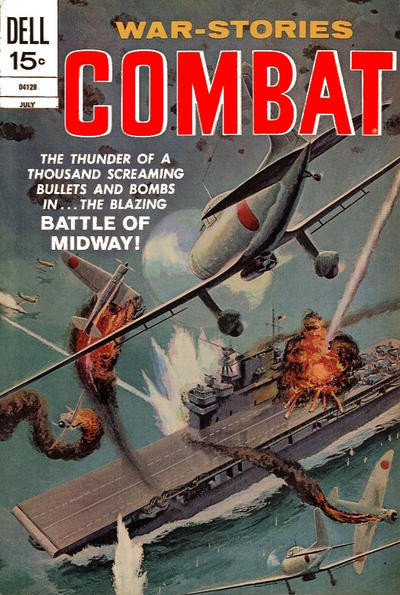 Couverture de Combat (Dell - 1961) -36- Battle of Midway!