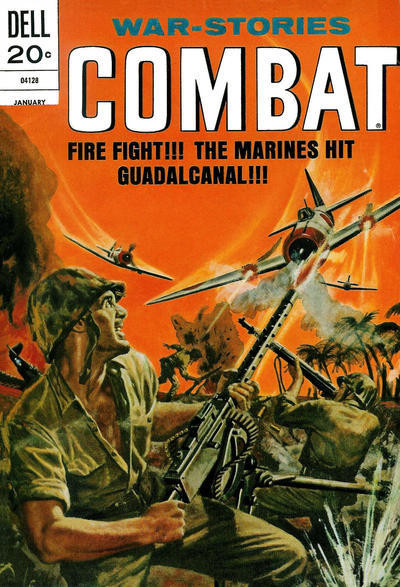 Couverture de Combat (Dell - 1961) -38- Fire Fight!!! The Marines Hit Guadalcanal!!!