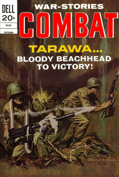 Couverture de Combat (Dell - 1961) -40- Tarawa... Bloody Beachhead to Victory!