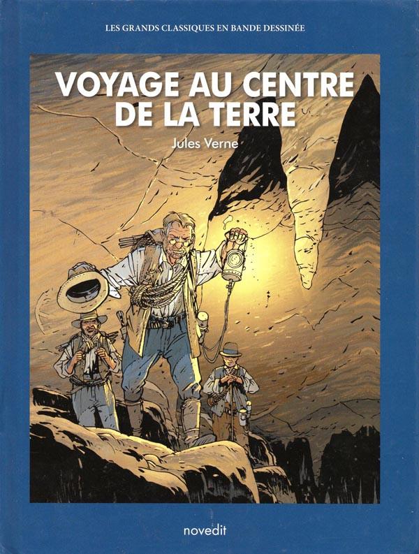 Couverture de Les grands Classiques en bande dessinée - Voyage au centre de la terre