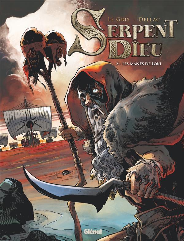 Couverture de Serpent Dieu -3- Les Mânes de Loki