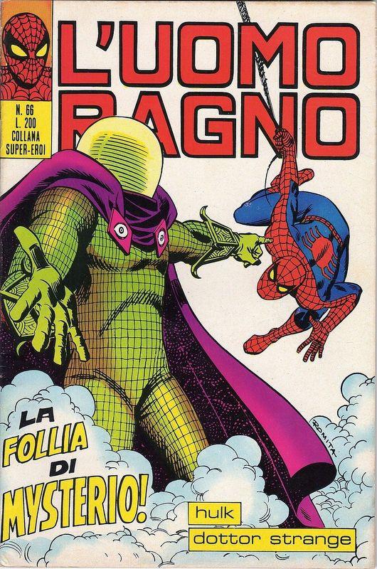 Couverture de L'uomo Ragno V1 (Editoriale Corno - 1970)  -66- La Follia di Mysterio!
