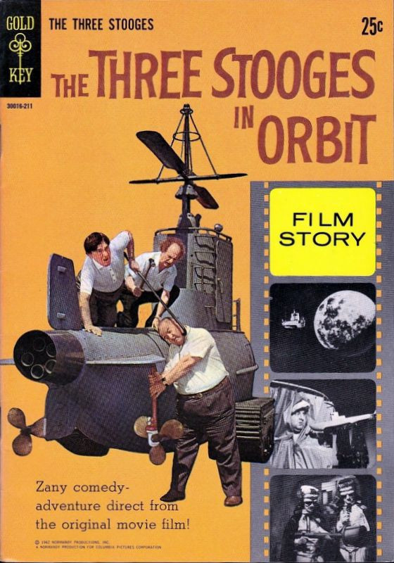 Couverture de Movie comics (Gold Key) -211- The Three Stooges in Orbit