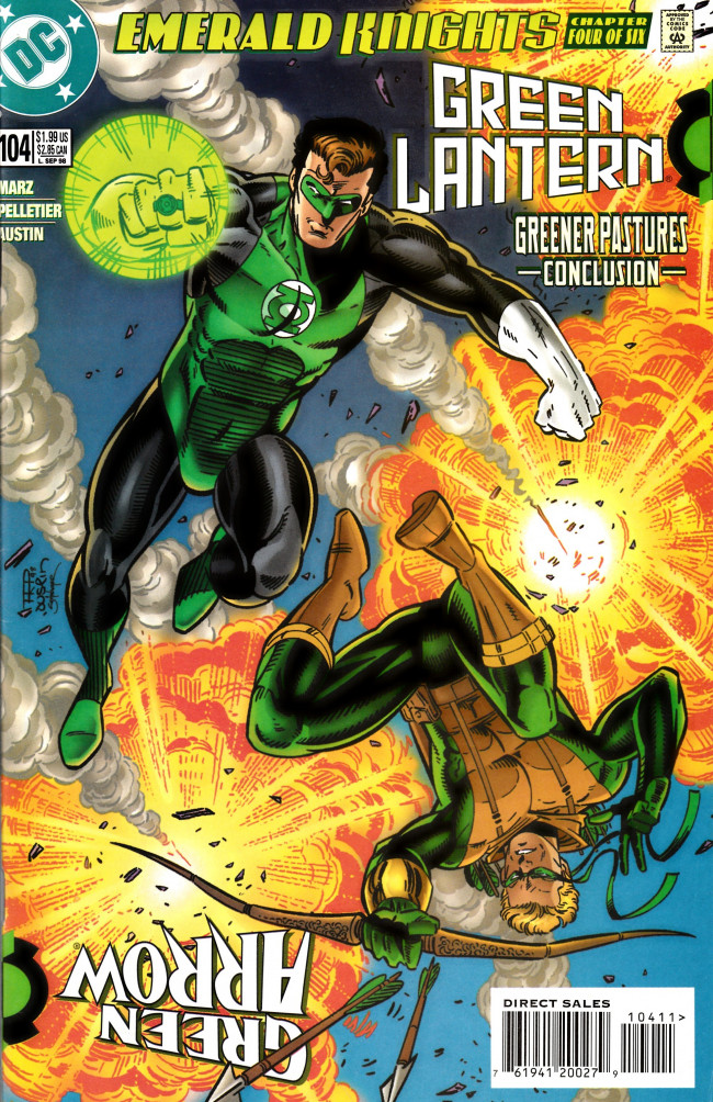 Couverture de Green lantern (1990) -104- Emerald Knights part 4: Greener Pastures Conclusion