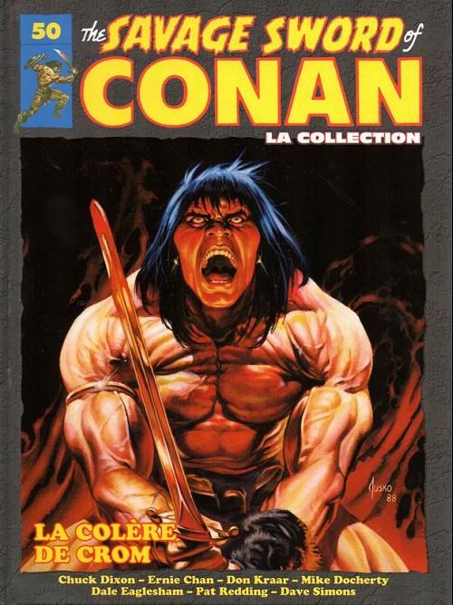 Couverture de Savage Sword of Conan (The) - La Collection (Hachette) -50- La colère de crom