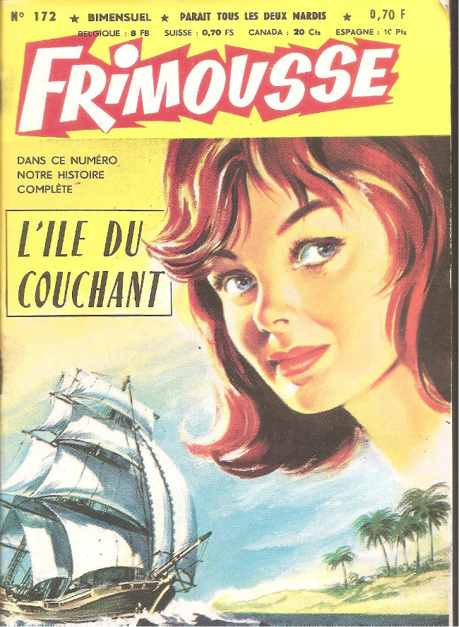 Couverture de Frimousse et Frimousse-Capucine -172- L'ile du couchant