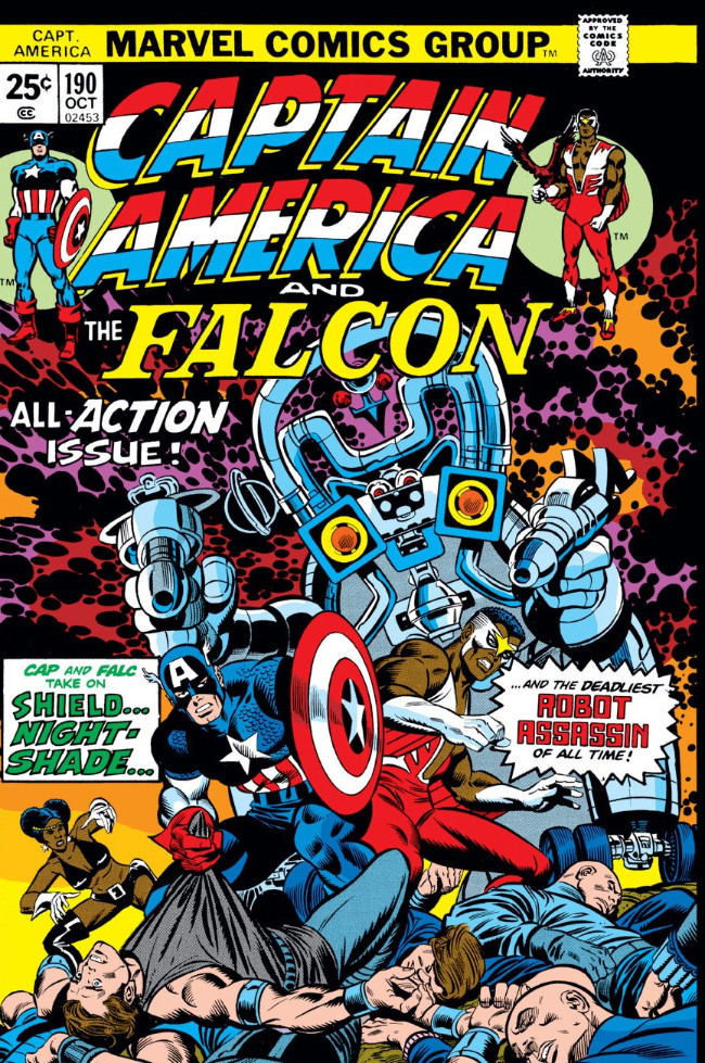 Couverture de Captain America (Marvel comics - 1968) -190- Nightshade is Deadlier the Second Time Around