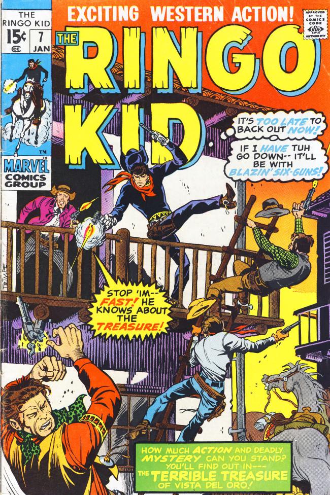Couverture de Ringo Kid (The) Vol 2 (Marvel - 1970) -7- The Terrible Treasure of Vista del Oro!