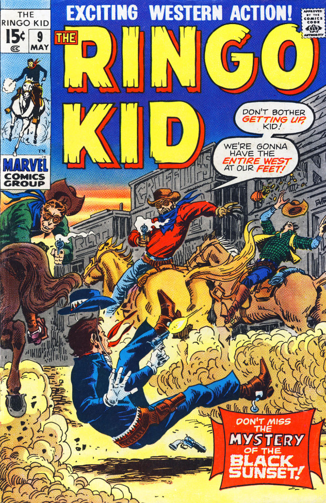 Couverture de Ringo Kid (The) Vol 2 (Marvel - 1970) -9- Mystery of the Black Sunset!