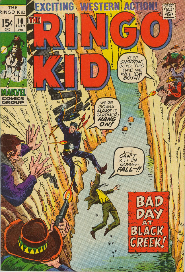 Couverture de Ringo Kid (The) Vol 2 (Marvel - 1970) -10- Bad Day at Black Creek!