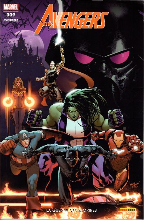 Couverture de Avengers (Marvel France - 2019) -9- La guerre des vampires