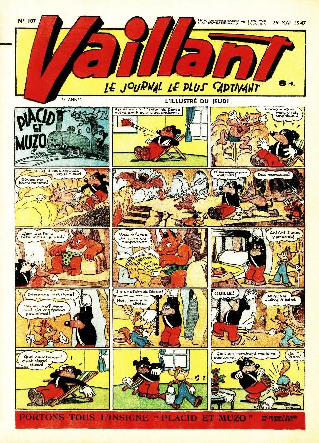 Couverture de Vaillant (le journal le plus captivant) -107- Vaillant