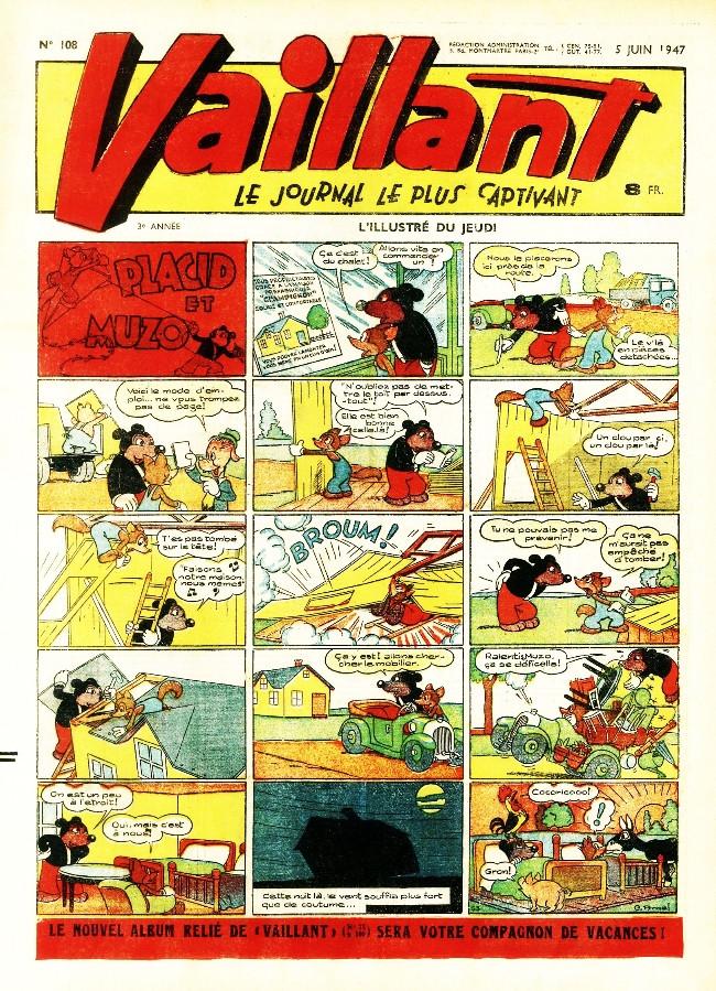Couverture de Vaillant (le journal le plus captivant) -108- Vaillant