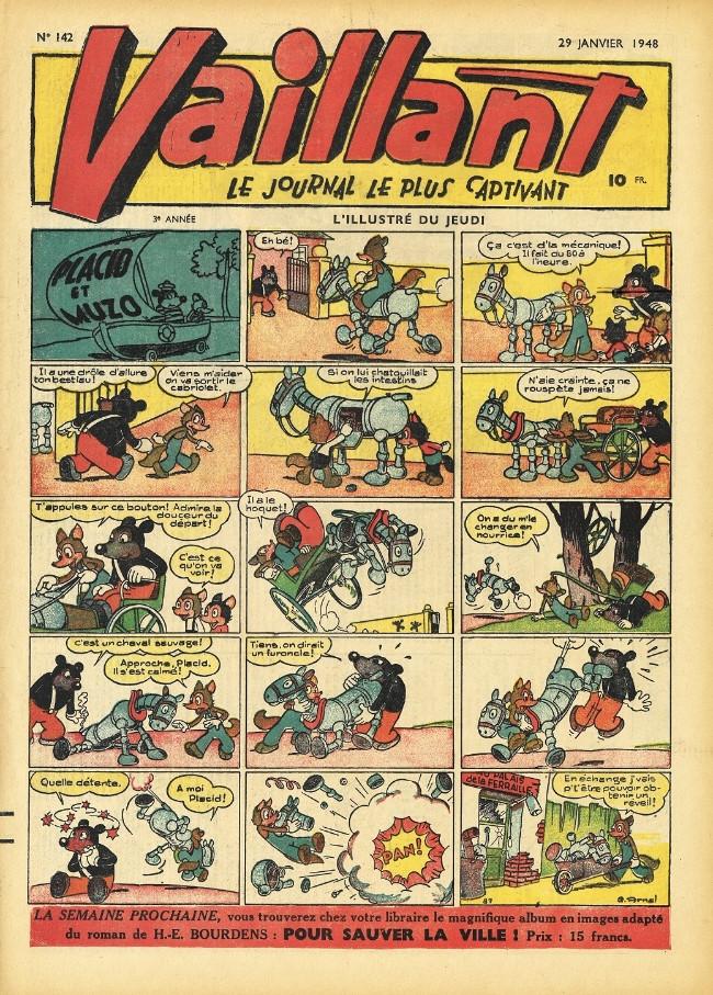 Couverture de Vaillant (le journal le plus captivant) -142- Vaillant